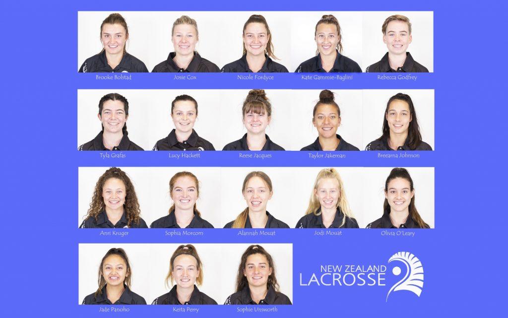 NZ U19 Lacrosse team